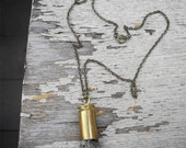 Upcycled Bullet and Pyrite Necklace
