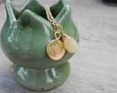Gold Lotus and Citrine Necklace - Elegant Yogi