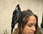 Luscious Feather Headdress - Festivals, Burning Man, Performance
