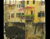 Set of 4 Marble Coasters - Ponte Vecchio in Florence Italy