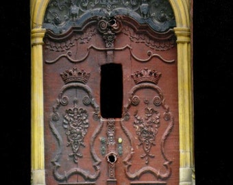 Single Switchplate Cover - Ornate Doors in Wroclaw