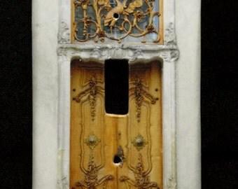Single Switchplate Cover - Elaborate Door
