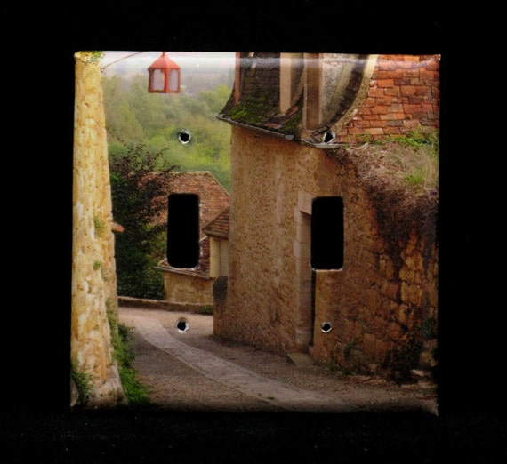 Double Switchplate Cover - Down the Lane in Beynac