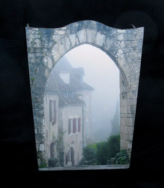 Wastebasket - Entry to St. Cirq in the Fog