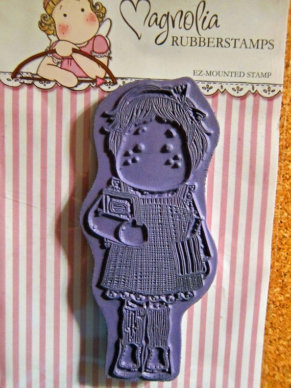 Magnolia 'Tilda with Pencils' Cling Mount Rubber Stamp, Gently Used