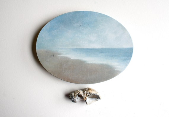 Oval Ocean Oil Painting