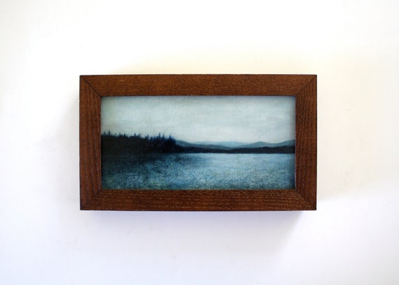 Framed Adirondack Landscape Oil Painting