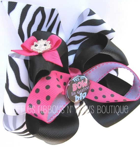 Layered  Hair Bow - Yes My Bow Is Quite Big OOAK Large Layered Hairbow  - Ready To Ship