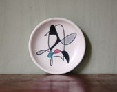 RESERVED Metlox California Contempora Plate - Mid Century Modern Abstract Studio Pottery Pin Dish