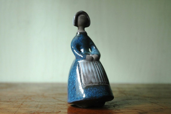 JIE Gantofta of Sweden Girl Figurine - Ceramic Vase by Elsi Bourelius