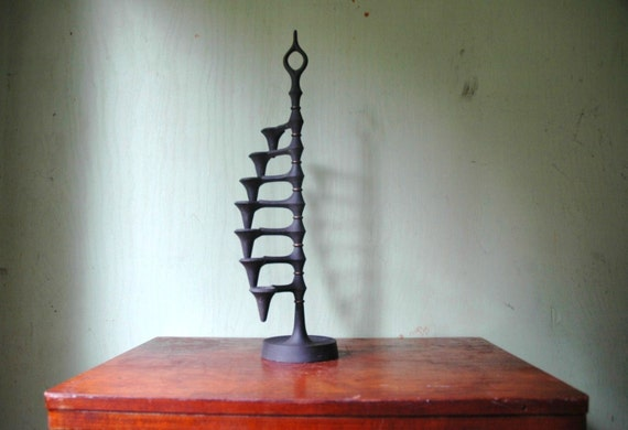 Dansk Candelabra Designed By Jens Quistgaard - Mid Century Danish Modern Iron And Brass Articulating Candle Holder
