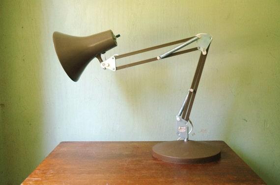 Danish Modern Luxo Desk Lamp - Brown Enamel Task Lamp
