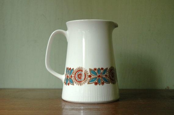 Danish Modern Figgjo Astrid Pitcher Designed by Turi Gramstad Oliver - Mid Century Scandinavian Vase