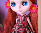 Liberty browns and floral Umbrella dress for Blythe reserved for olivermessel