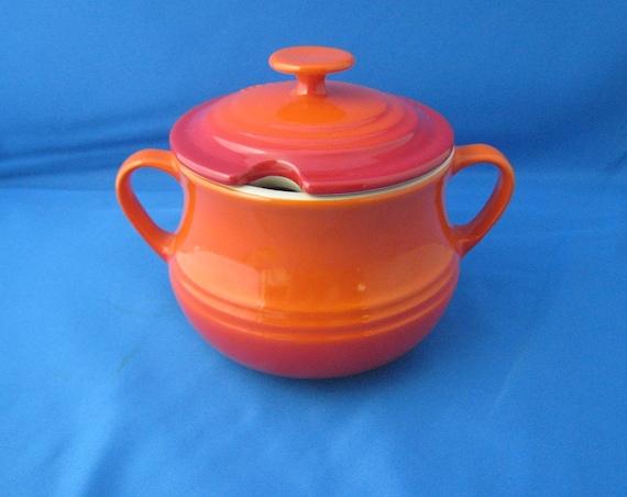 Le Creuset Sugar Bowl, Ombre Orange