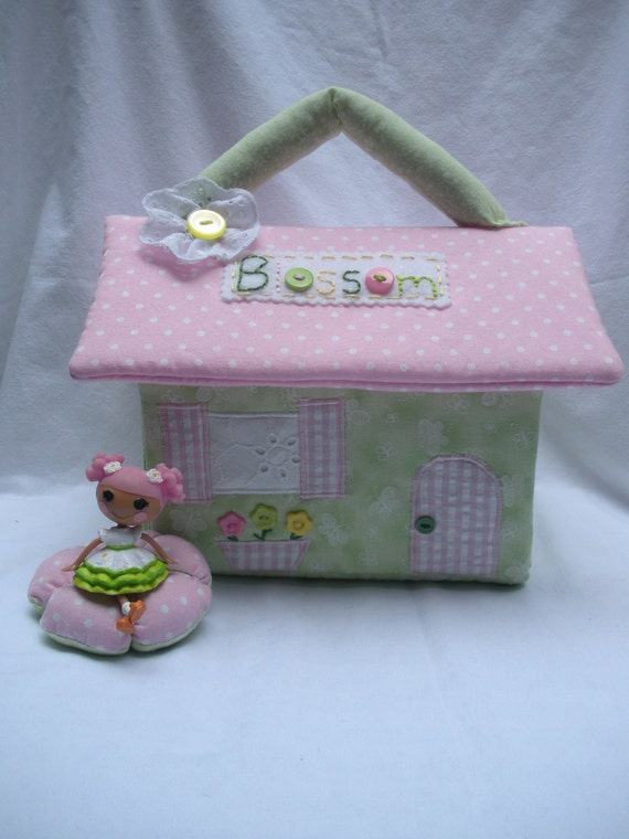 Lalaloopsy fabric dollhouse-Blossom Flower Pot inspired// Ready to Ship
