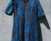 SALE - 60s Paisley A Line Dress