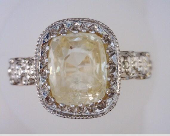 Cushion Cut Yellow Sapphire 10kt & 14kt Gold Ring