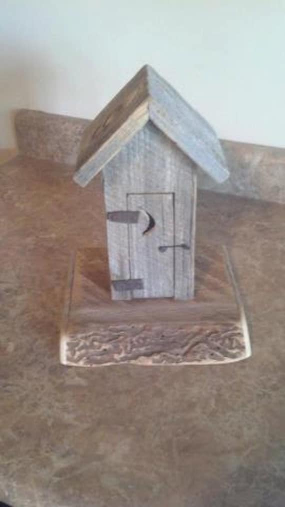 Small Outhouse with working door and toilet seat. Great Bathroom Decor