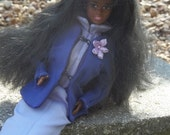 Barbie Clothes Dress Matching Jacket  Hat Purple Outfit for Vintage Fashion Dolls