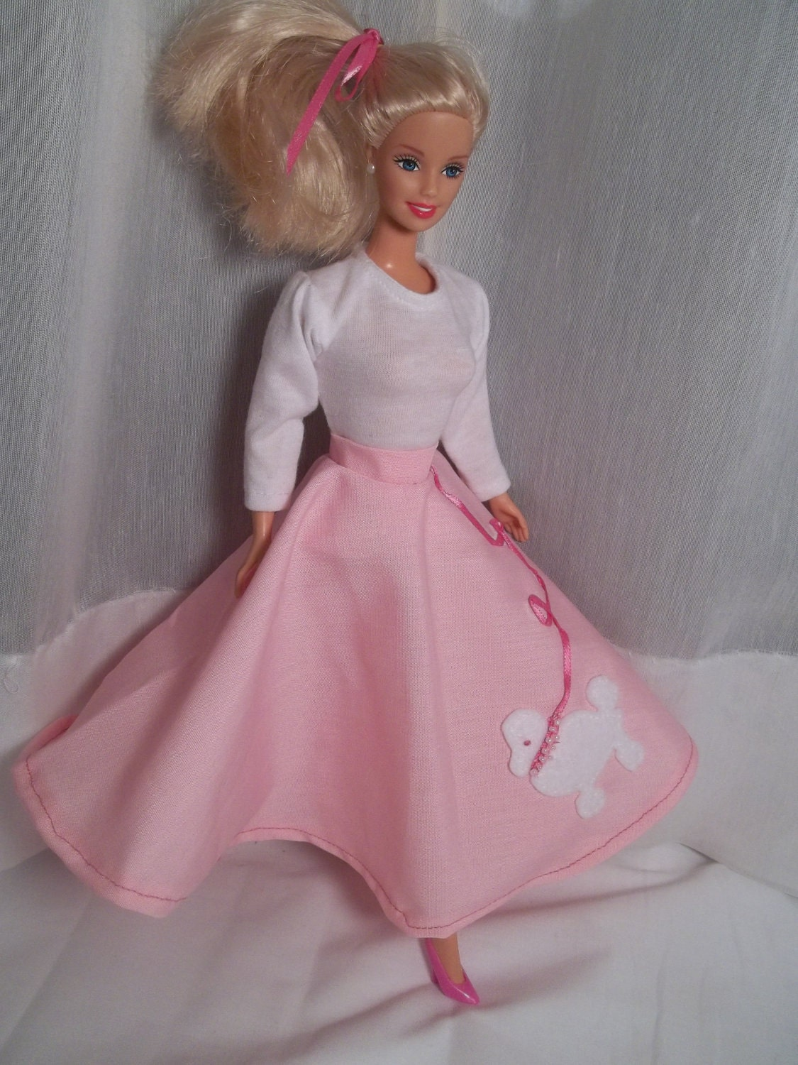 Barbie Clothes Halloween Costume 50s Sock Hop Poodle Skirt
