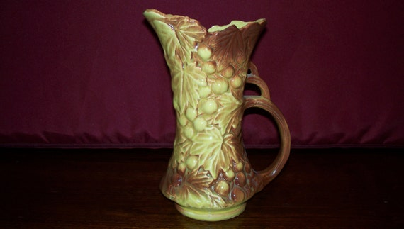 McCoy Art Pottery Grape Pitcher Vase