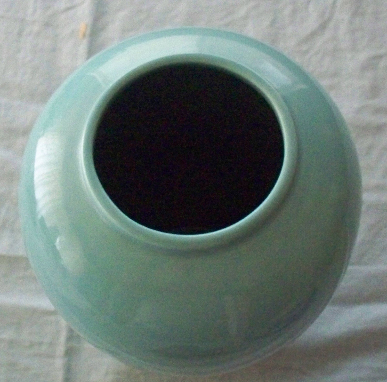 Vintage Haeger Pottery Floor Vase Very Large Sized Turquoise