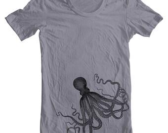 Men's Octopus T Shirt American Apparel XS, S, M, L, XL 9 COLORS mens boyfriend gift