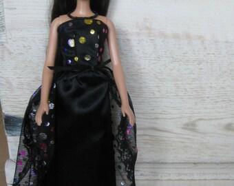 Handmade Barbie Dress, Black