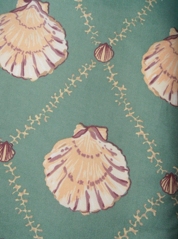Screenprint 54 Seashell Pattern Fabric Yardage 3 yards