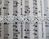 Crocheted Thin White Lace - 2 Yards