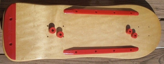 Vintage Old School Skate Board Rails by Big Ugly Skid Plate Tail Feathers Bushings 1980's Era