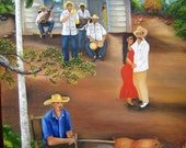 "Fine Art :Oil Paintings on Canvas 36""x24"" -""Guateque""- . Five  Paintings  to Choose"