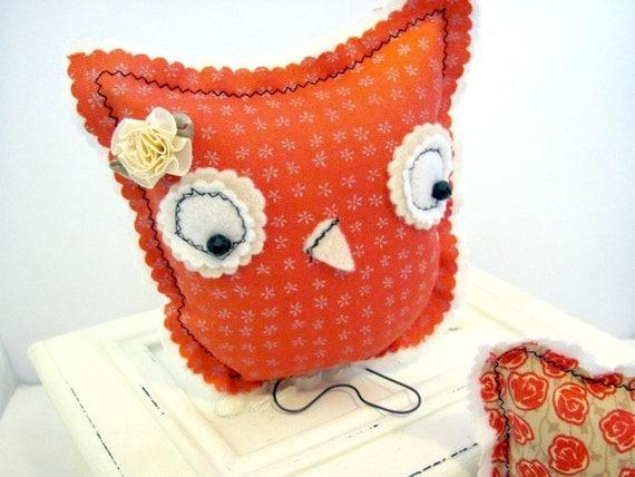 Tangerine Tango Owl Home Decor Nurserychild 39 S Room