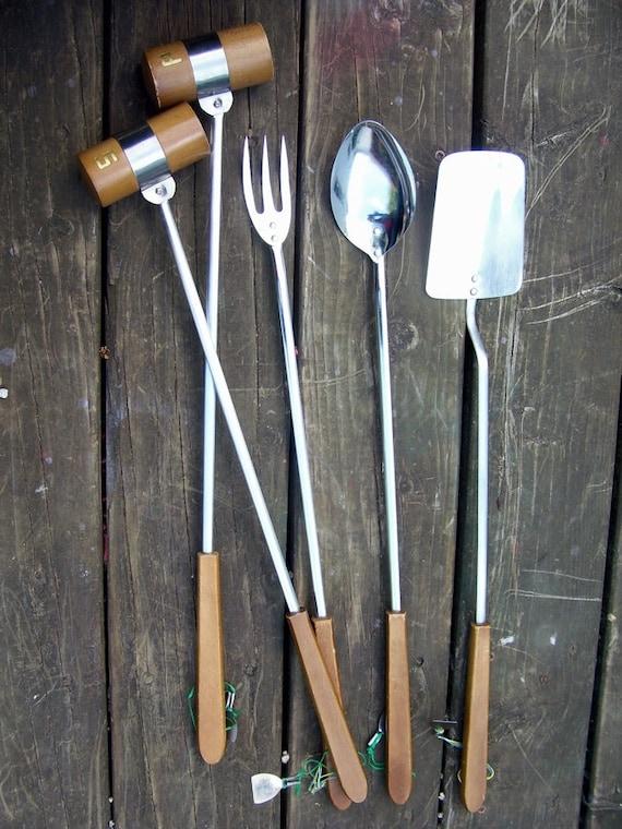 20% off Sale... Vintage Mid-Century BBQ Tool Set