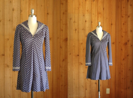 Vintage Nautical Anchor Dress xs small