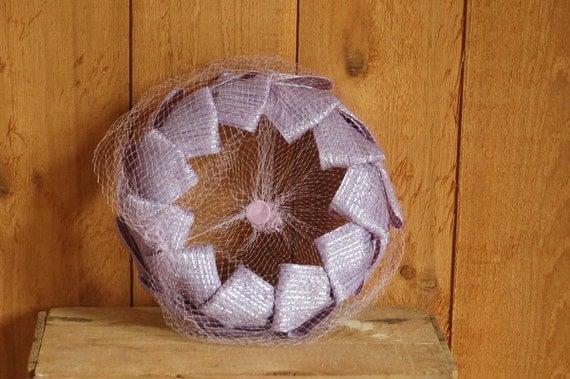 vintage 1960s lavender spring hat