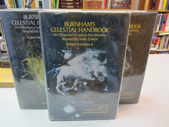 BURNHAM'S CELESTIAL HANDBOOK 3 Volume Set Astronomy Star Heavens Science Books