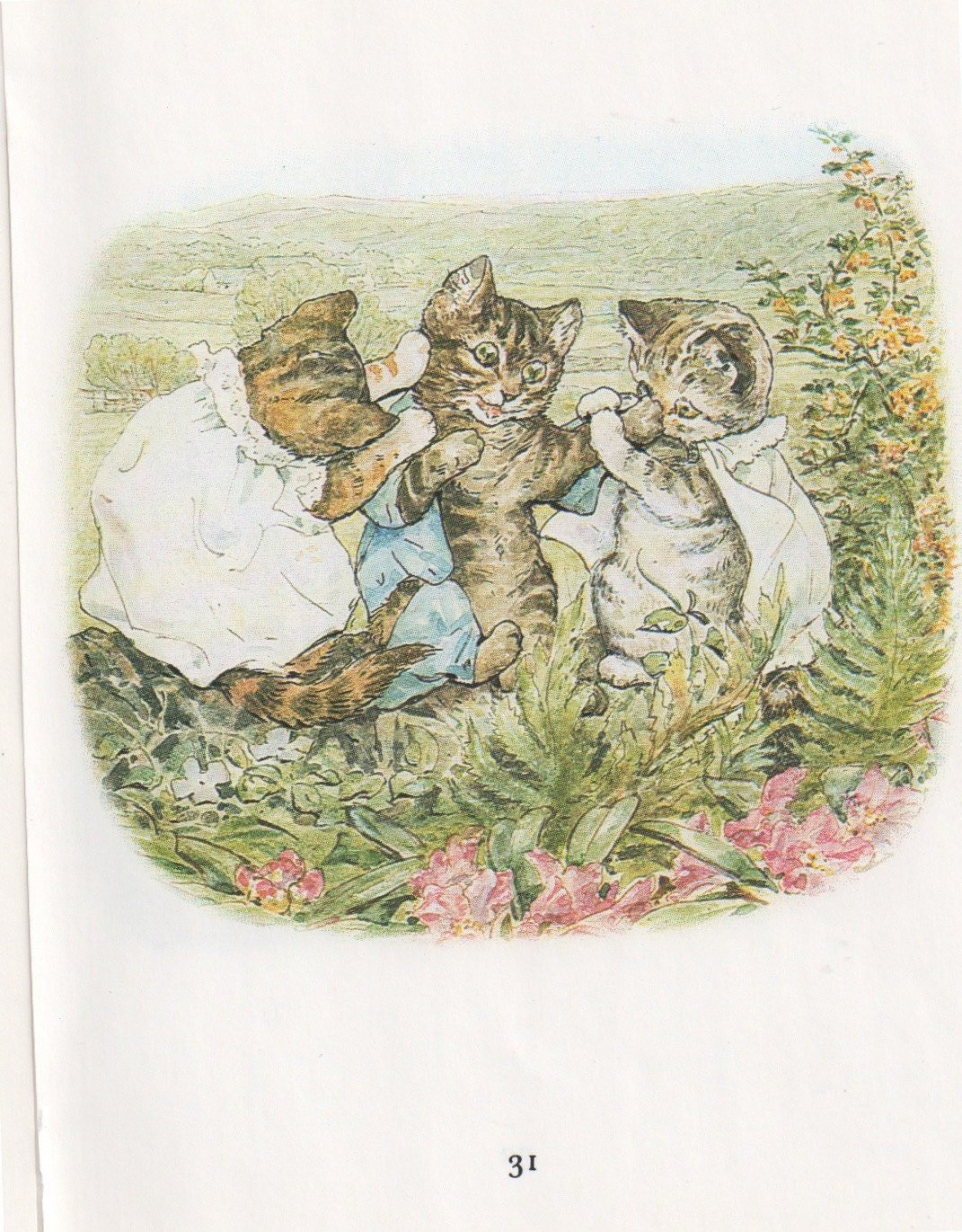 Set Of Beatrix Potter Tale Of Tom Kitten Cat Children Nursery