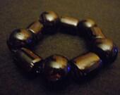 Solid Black Glass Beaded Bracelet