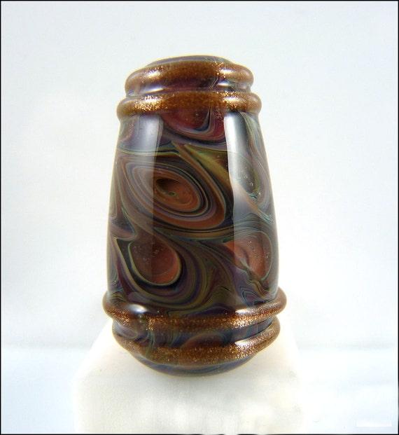 RUSTIC SPICE - Handmade Lampwork Drop Pendant Bead - by Stephanie Gough SRA Lampwork Beads fhfteam leteam