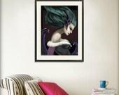 Morrigan Darkstalkers Print 13x19