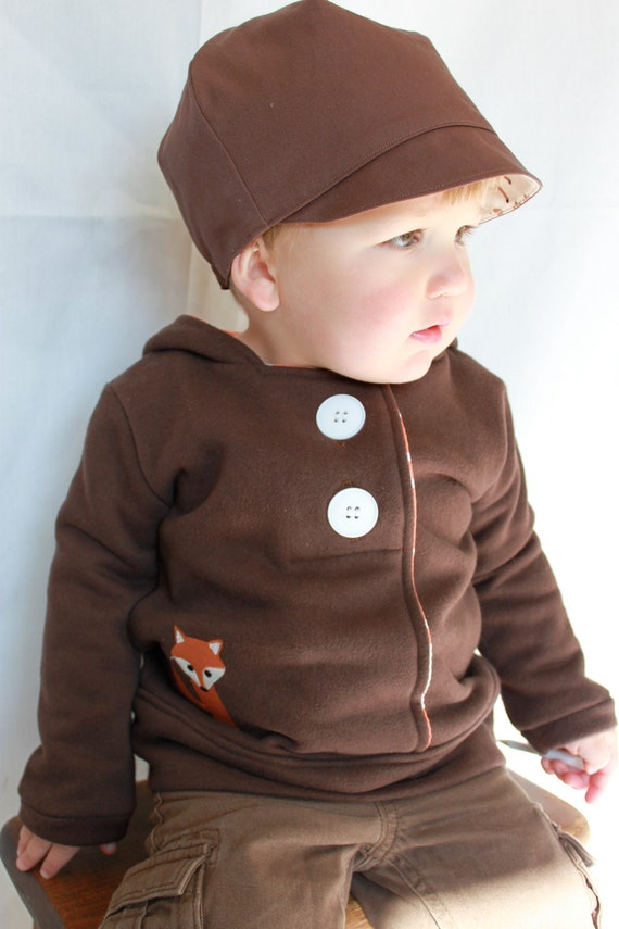 HOODIE - The Fox Hoodie - Fully Lined Pullover Hoodie - Size  3T - last one - Ready to Ship