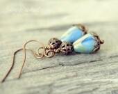 Blue Chic Earring Drops Earthy Vintage
