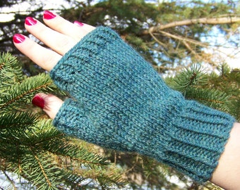 Fingerless Gloves Knitting PATTERN PDF, Knitted Fingerless Mittens Pattern, Fingerless Mitts Knitting Pattern - Pine Woods