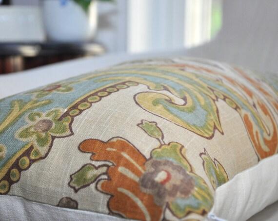 Kravet Lutron Vintage Pillow Cover 12x22 Lumbar