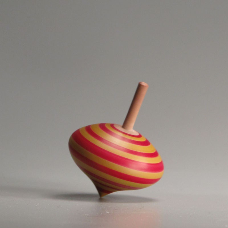 Toy Spinning Top : Turnip shaped toy spinning top