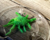 Needle felted Brain Cancer Cell  Voodoo doll  /  Green cancer cell   / Visualizing aid  / therapeutic  plushie/ships free to US/ donation