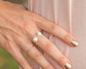 Give Me Some Space Pearl Ring of Freshwater Pearls and 12g Gold Filled Base