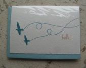 """2 Birds """"Hello"""" Note Card"""
